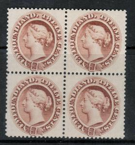Newfoundland #29 Very Fine Mint Block **With Certificate**