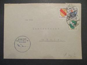 1947 French Occupied Germany Zone Francaise Cover