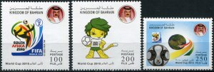 Bahrain 2010. Football World Cup 2010, South Africa (MNH OG) Set of 3 stamps