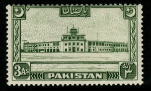 PAKISTAN SG47 1949 3a GREEN MNH