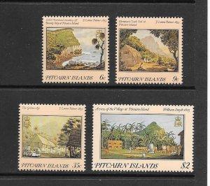 PITCAIRN ISLANDS  #249-52    EARLY PITCAIRN-ART  MNH
