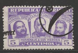 Paraguay 1954 5c National Heroes, Scott #481, used