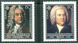 Germany Scott 1440-1441 MNH** 1985 Europa Music set