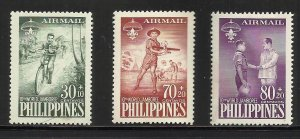 Philippines Air Mail Semi Postal 1959 Scott# CB1=CB3 MH