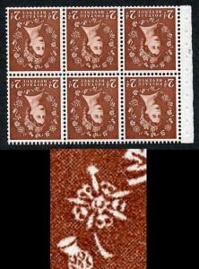 2d Light Red Brown Edward Pane SB78ae Thistle Flaw