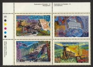 Canada 1202a TL Block MNH Explorers, Ship, Map, Flag, gun