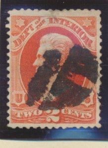 United States Stamp Scott #O16, Used, Blot Cancel