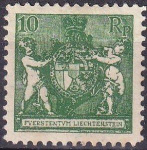 Liechtenstein  #73  F-VF Unused  CV $21.00 (Z3150)
