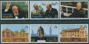 Anguilla 1974 SG181-186 Sir Winston Churchill set MNH