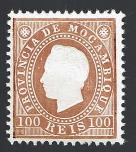Mozambique 1886 D. Luis I Dent.12,5 MNG # 21