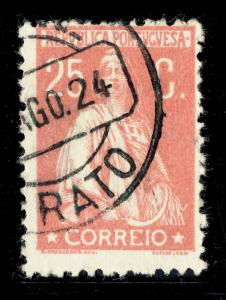 PORTUGAL 1924  CRATO  Date Stamp on Mi.276 25c Rose CERES