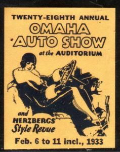 28TH ANNUAL OMAHA AUTO SHOW AND HERZBERGS STYLE REVUE 1933