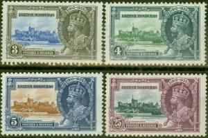 British Honduras 1935 Jubilee set of 4 SG143-146 V.F Very Lightly Mtd Mint