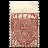 FIJI 1891 - Scott# 57 Crown Wing Margin 2.5p LH