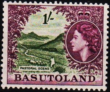 Basutoland. 1954 1s S.G.49 Mounted Mint