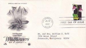 1992, Wildflowers-Twinflower, Art Craft/PCS, FDC (E11333)