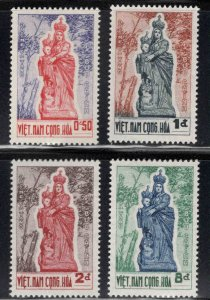 South Vietnam Scott 193-196  Madonna of Vang  MH* set