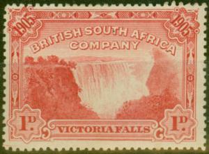 Rhodesia 1905 Falls 1d Red SG94 Fine Mtd Mint