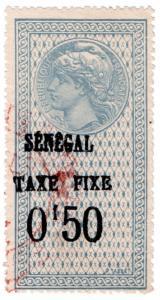 (I.B) France Colonial Revenue : Senegal Duty 50c (Taxe Fixe)