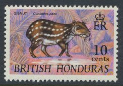 British Honduras SG 277e SC # 239 MLH  Gibnut - with watermark 1972  see scans