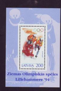 Latvia Sc 360 1994 Winter Olympics stamp sheet mint NH