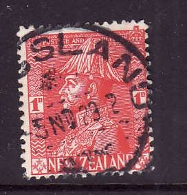 New Zealand-Sc#184-used 1p rose red KGV-1926-