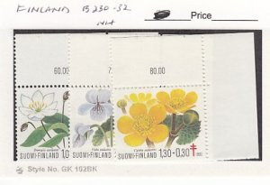 J25759  jlstamps 1983 finland set mnh #b230-2 flowers all checked
