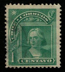 1905, Christopher Columbus, Chile, 1 centavo (T-9555)