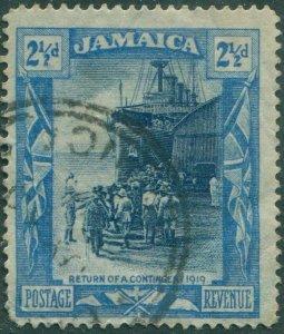 Jamaica 1919 SG82a 2½d blue Return of War Contingent FU