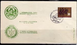 JUGOSLAVIA YUGOSLAVIA 4-5 11 1966 MILANO ZAGREB CARS RALLY ESPLANADE INTERCON...