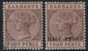 Barbados #65 used, #69*  CV $5.00