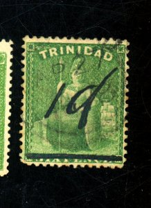 TRINIDAD #67B USED FVF Cat $1,900