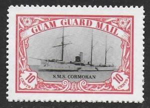 Guam Guard Mail 1978 Local Post S.M.S. Cormoran Ship VF-NH, dull gum