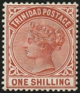 TRINIDAD-1884 1/- Orange-Brown Sg 112 MOUNTED MINT V48578