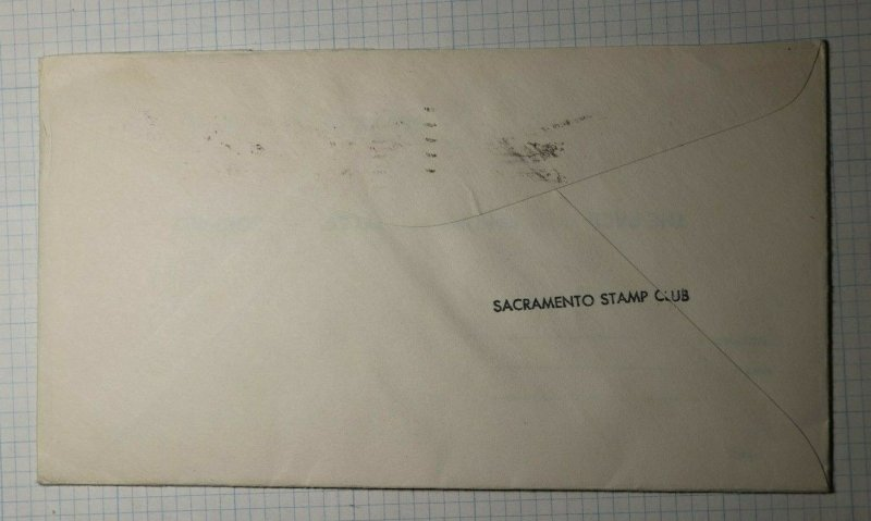 Centennial US Post Office Sacramento CA Philatelic Convention Cachet Cover 1949