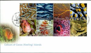 COCOS ISLAND SET OF 3 FDC  #360a-t BIN $10.00