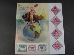 U.S.# 3505-MINT/NEVER HINGED--PANE OF 7---PAN-AM EXPO INVERTS---2001