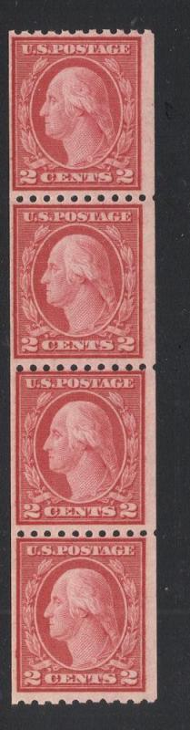 US#488 Carmine - Type III - Strip of 4 - O.G. - N.H.