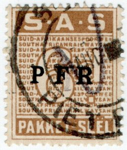 (I.B) South Africa Railways : Parcel Stamp 6d (Afrikaans)