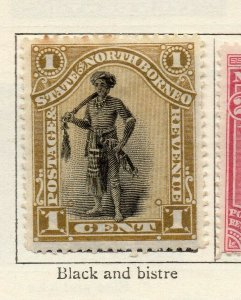 North Borneo 1894 Early Issue Fine Mint Hinged 1c. NW-113862
