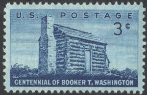 SC#1074 3¢ Booker T. Washington Single (1956) MNH