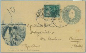 85967 - ARGENTINA - POSTAL HISTORY - Picture STATIONERY CARD to ITALY 1900
