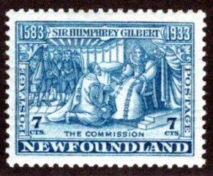 200, NSSC, Newfoundland, 7c, F/VF, MLHOG,wmk pos 5, p13.5, Scott 217