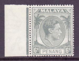 Malaya Penang Scott 8 - SG8, 1949 George VI 6c MH*