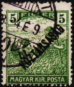 Hungary. 1918 5f S.G.285 Fine Used