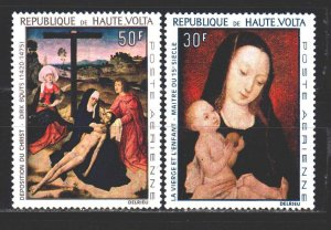 Upper Volta. 1967. 222-23 of the series. Painting, paintings. MNH.