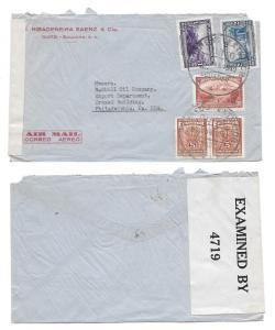 Ecuador WWII Censored Cover Quito to US 1942 Advert Cover