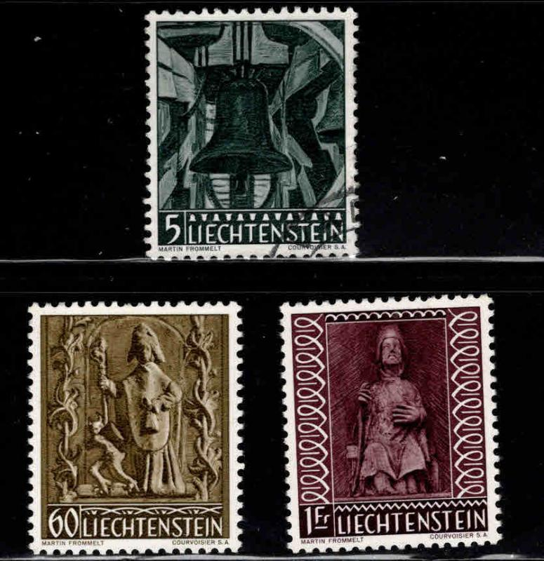 LIECHTENSTEIN Scott 350-352 mixed mint and Used set
