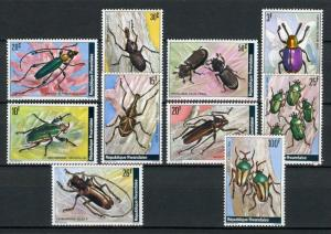 Rwanda 865-874, MNH, Insects Beetles 1978. x28381