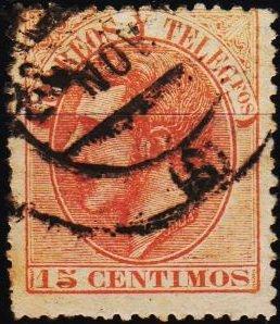 Spain. 1882 15c S.G.273 Fine Used